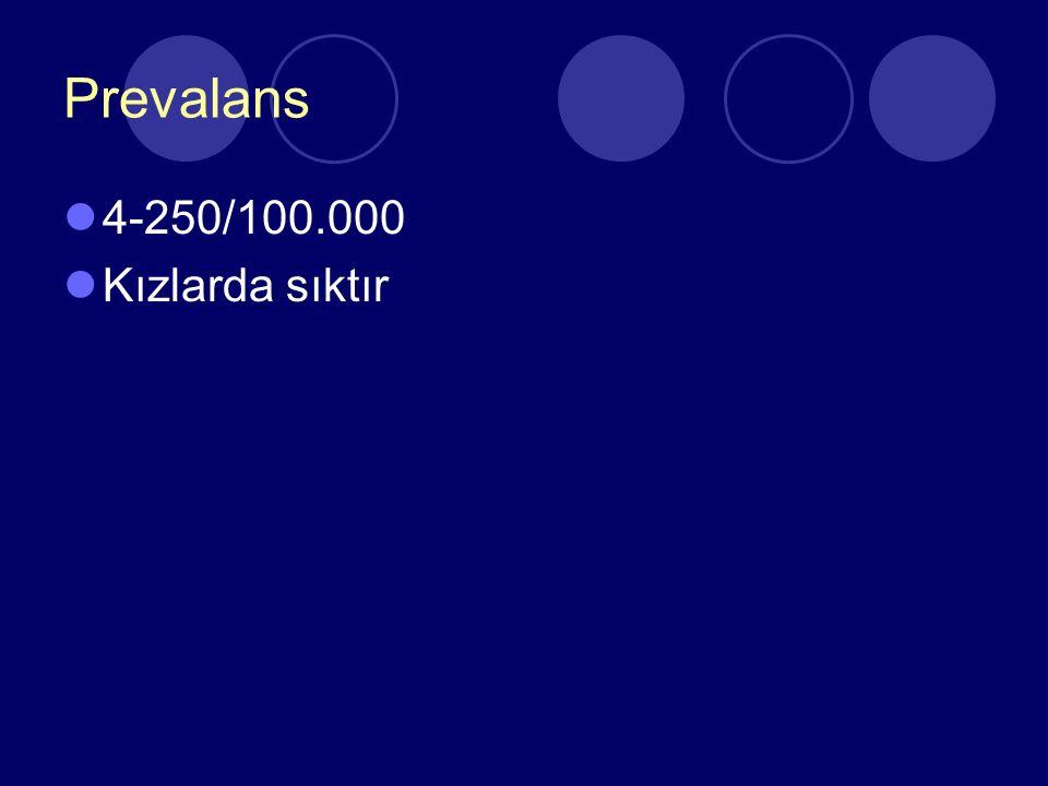 Patogenez Şüphelenilen kromozom 1.