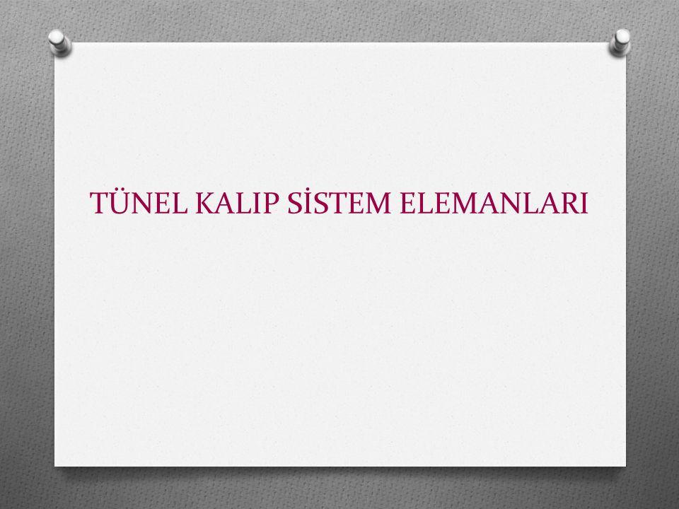 TÜNEL KALIP SİSTEM ELEMANLARI