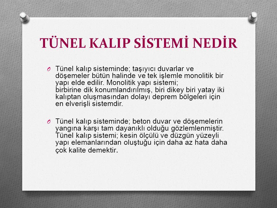 TÜNEL KALIP SİSTEMİ NEDİR O Tünel kalıp sistemi, doğaya uygun yapısıyla çevrecidir.