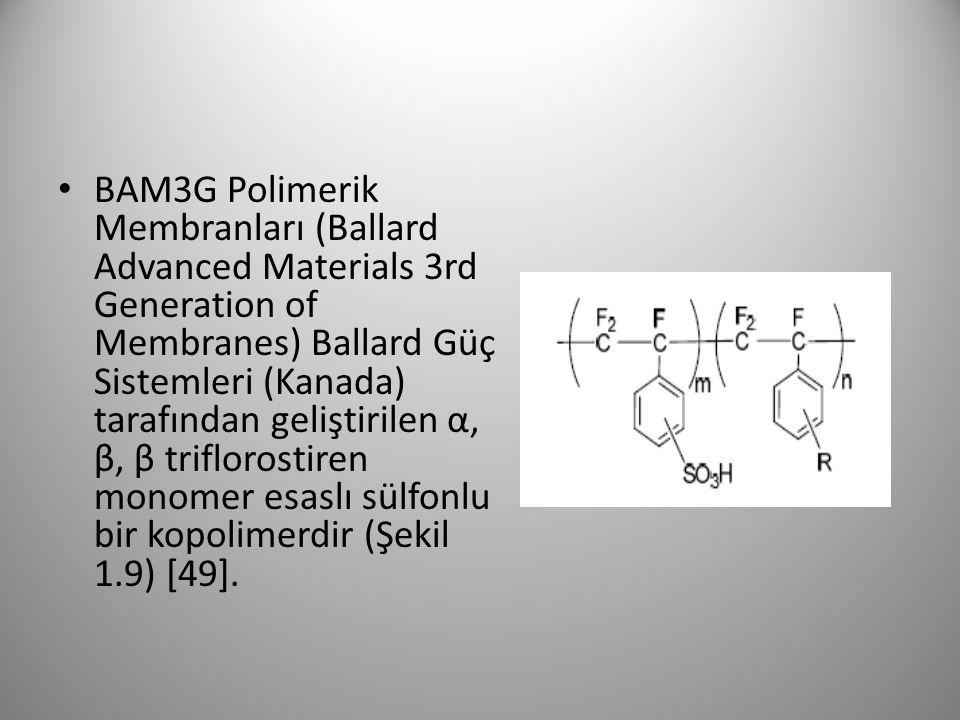 BAM3G Polimerik Membranları (Ballard Advanced Materials 3rd Generation of Membranes) Ballard Güç Sistemleri (Kanada) tarafından geliştirilen α, β, β t