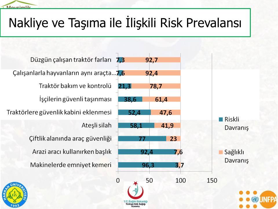 Nakliye ve Taşıma ile İlişkili Risk Prevalansı