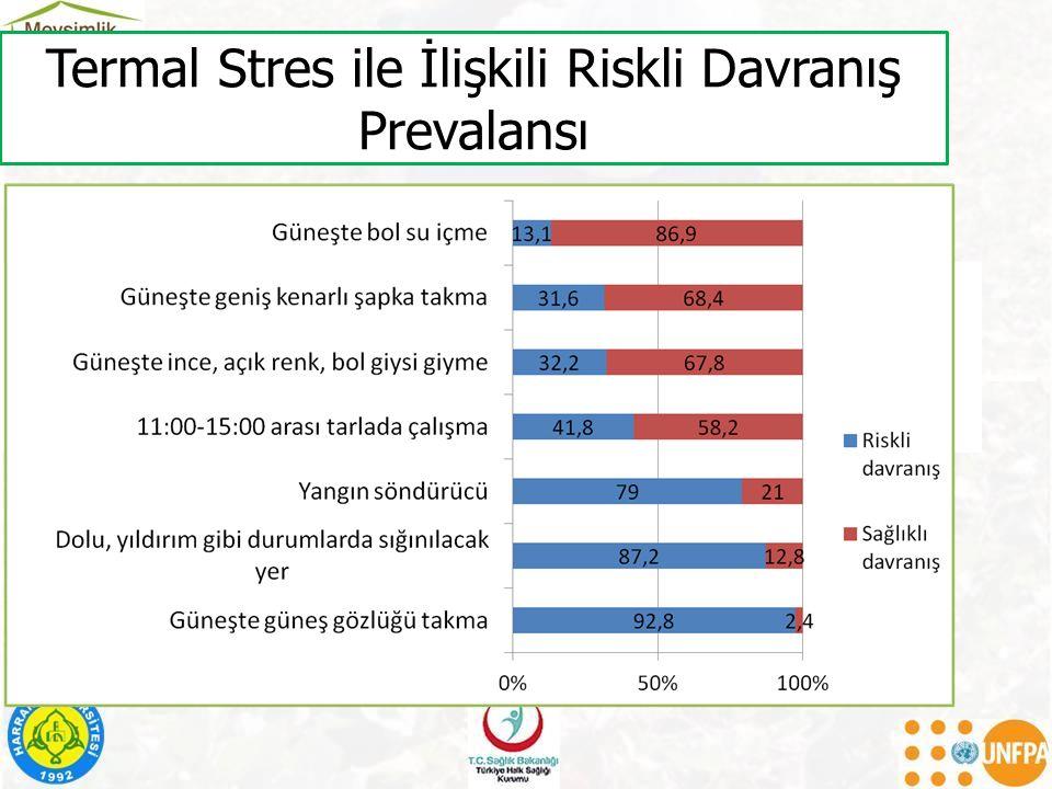 Termal Stres ile İlişkili Riskli Davranış Prevalansı
