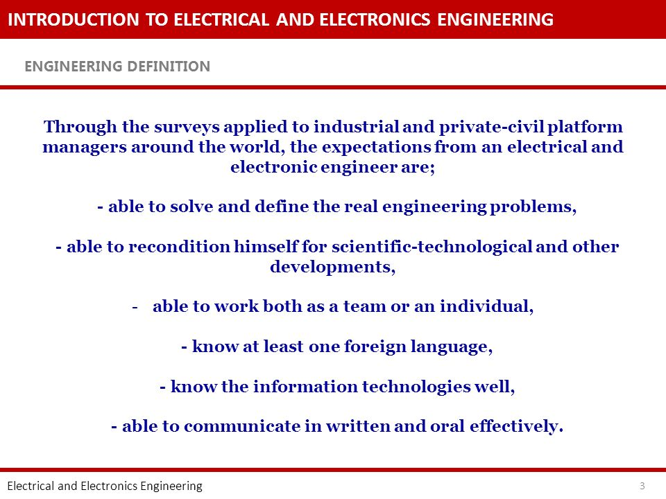 INTRODUCTION TO ELECTRICAL AND ELECTRONICS ENGINEERING Engineering Ethic Rules Electrical and Electronics Engineering 14 2.