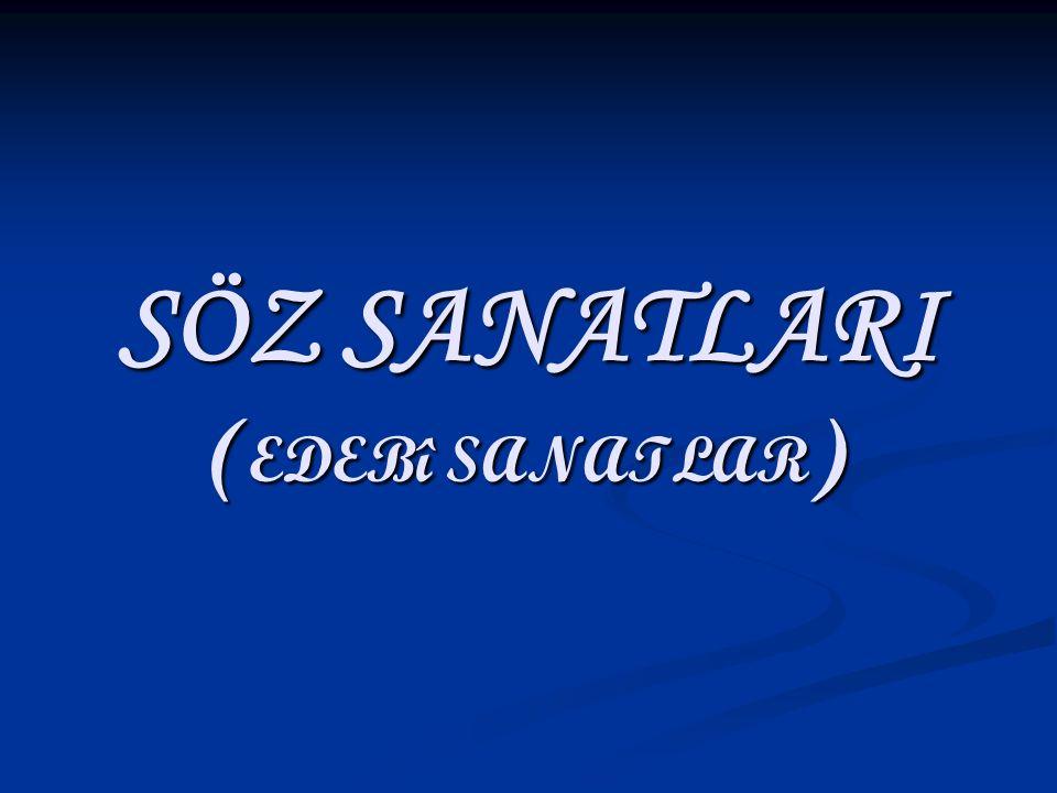 SÖZ SANATLARI ( EDEBî SANATLAR )