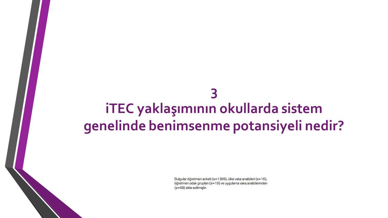 3 iTEC yaklaşımının okullarda sistem genelinde benimsenme potansiyeli nedir?
