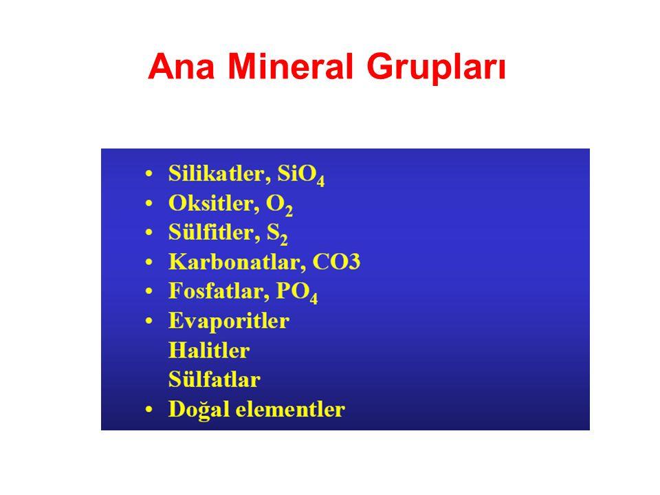 Ana Mineral Grupları