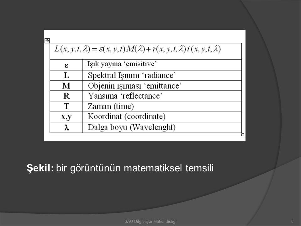 8 Şekil: bir görüntünün matematiksel temsili