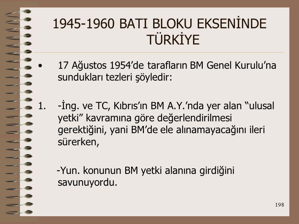 199 1945-1960 BATI BLOKU EKSENİNDE TÜRKİYE 2.-İng.