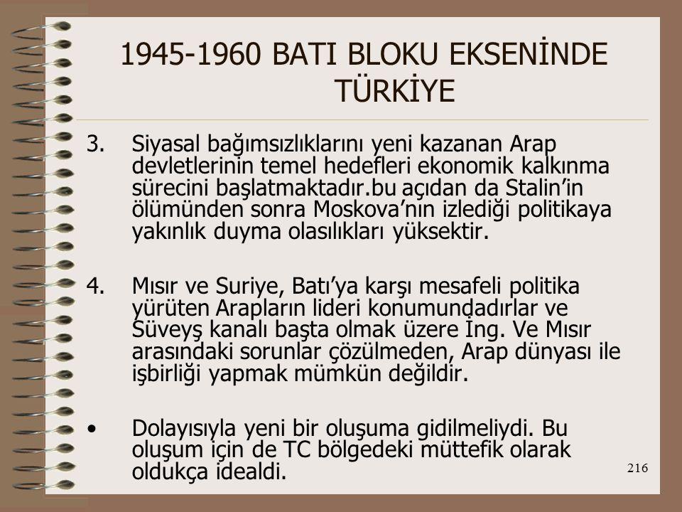 217 1945-1960 BATI BLOKU EKSENİNDE TÜRKİYE O.D.'nun savunmasına müdahale etmek isteyen ABD, o dönemde de müttefiki aracılığıyla bir çok yola başvurmuştur.