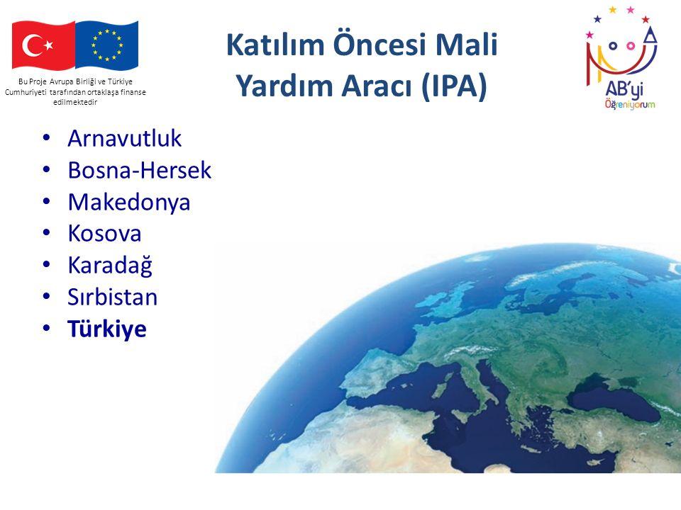 Bu Proje Avrupa Birliği ve Türkiye Cumhuriyeti tarafından ortaklaşa finanse edilmektedir Katılım Öncesi Mali Yardım Aracı (IPA) Arnavutluk Bosna-Herse
