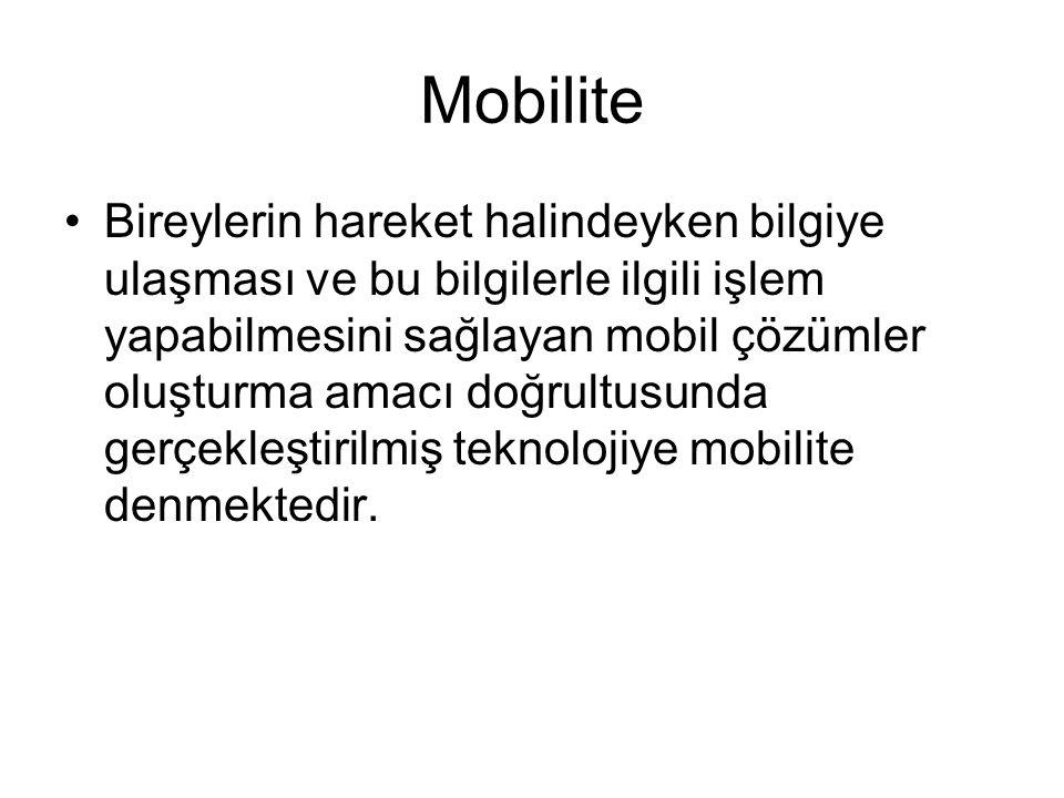 Mobilite nedir? Sözlük anlamı itibariyle kablosuzluk, hareketlilik, hareket kabiliyeti ve taşınabilirlik anlamlarına gelmektedir. Dolayısıyla günümüzd
