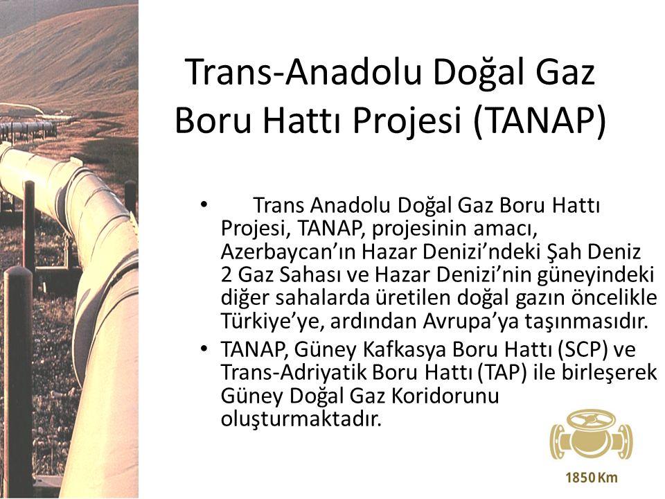 Trans-Anadolu Doğal Gaz Boru Hattı Projesi (TANAP) Trans Anadolu Doğal Gaz Boru Hattı Projesi, TANAP, projesinin amacı, Azerbaycan'ın Hazar Denizi'nde