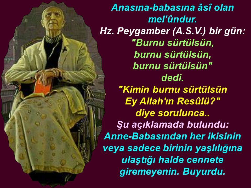 İbnu Ömer (R.A.) anlatıyor: Bir adam, Resûlullah (A.S.V.) a gelerek: Ben büyük bir günah işledim, buna tövbe imkanım var mı? dedi.