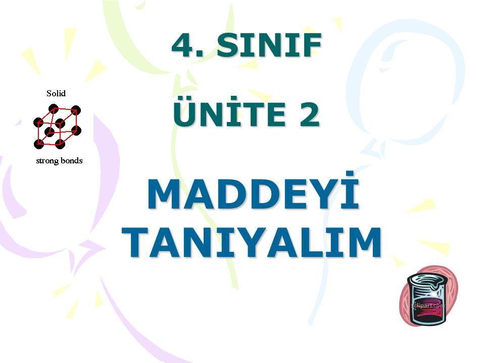 4. SINIF ÜNİTE 2 MADDEYİ TANIYALIM