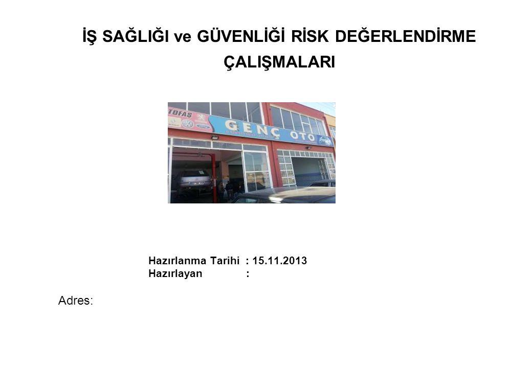 Amaç: Bu Rapor, Risk Analizi Projesi Çalışmalarının ….