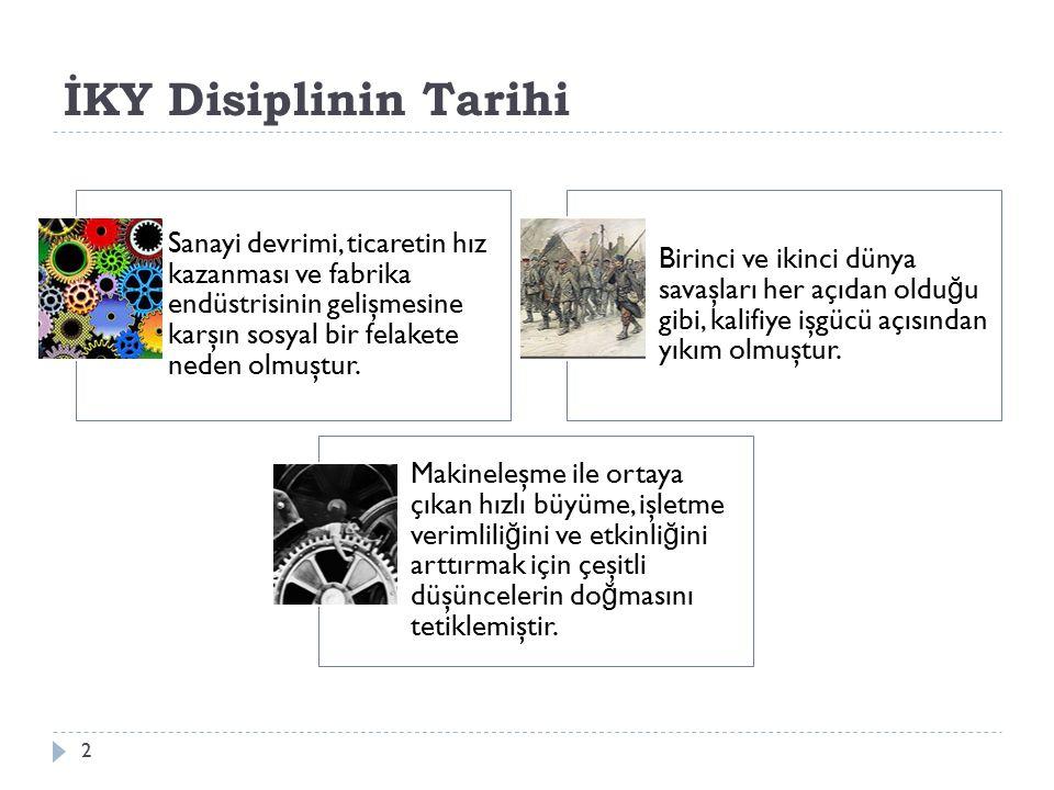 İKY Disiplinin Tarihi Hawthorne araştırmaları, Elton Mayo, Fritz J.