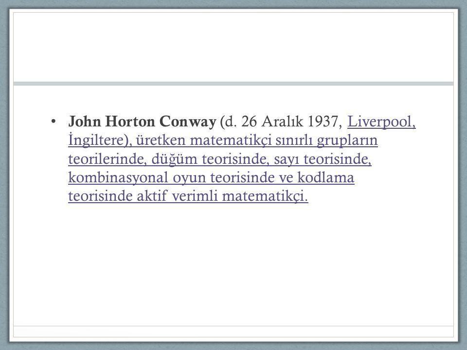 John Horton Conway (d.