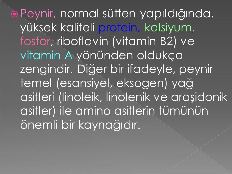 Kazein ve Süt Proteinlerindeki Temel Amino Asitlerin Yüzde Miktarları Amino AsitSütKazein Treonin4.64.5 Valin7.1 Löysin12.110.0 İsolöysin6.76.4 Lisin7.48.1 Fenilalanin5.55.4 Triptofan1.4 9.6 Metionin2.83.3 Arjinin*3.7 3.9 Histidin*2.83.0