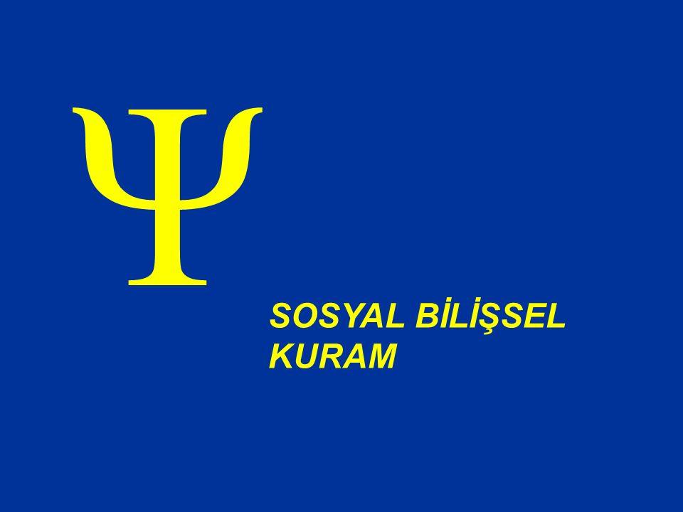 Ψ SOSYAL BİLİŞSEL KURAM