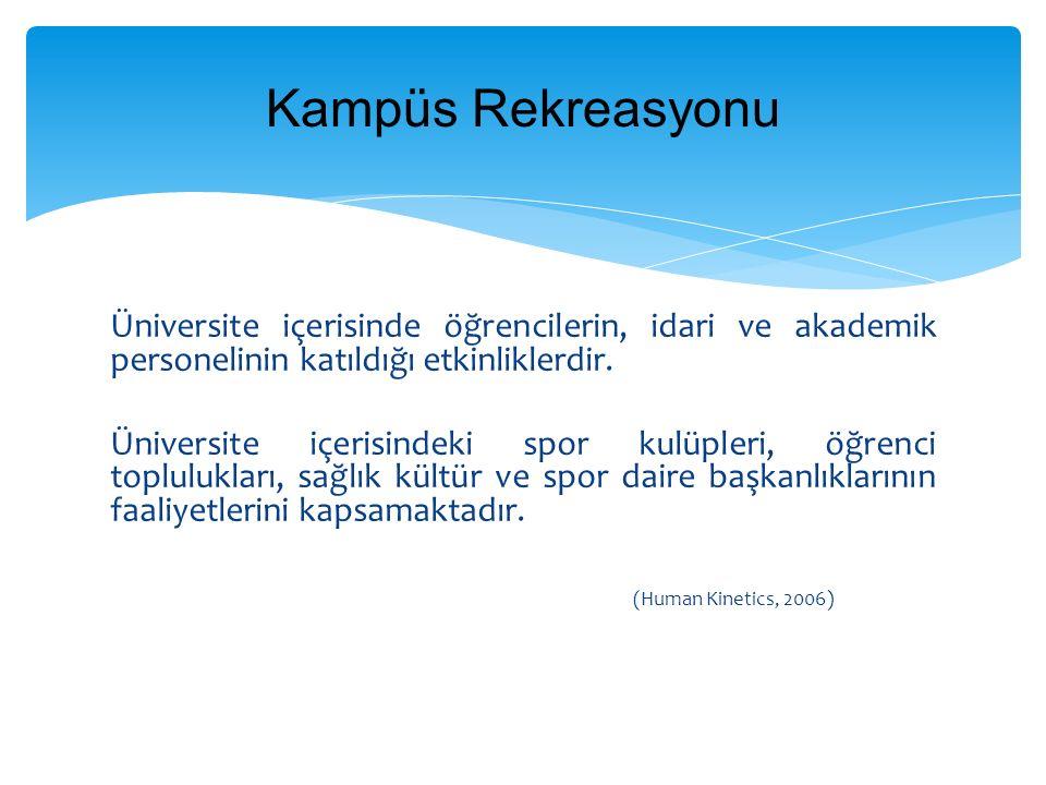 Üniversite içerisinde öğrencilerin, idari ve akademik personelinin katıldığı etkinliklerdir.