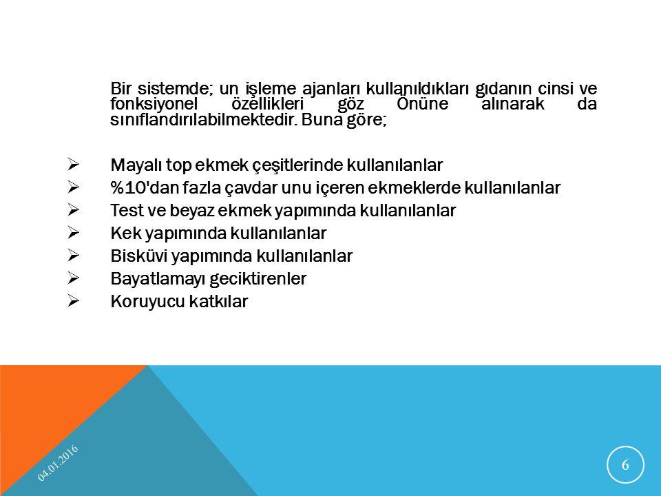 Sodyum sülfit (Na 2 SO 3 ) ve sodyum metabisülfît (Na 2 S 2 O 5 ); Katkı maddeleri listelerinde koruyucular sınıfında yer almaktadır.
