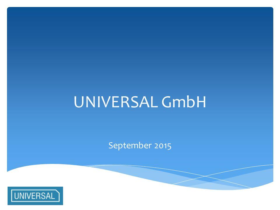 UNIVERSAL GmbH September 2015