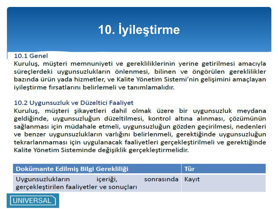 10. İyileştirme