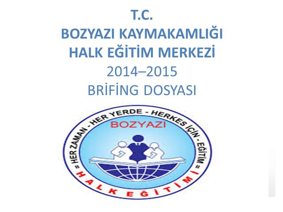 T.C. BOZYAZI KAYMAKAMLIĞI HALK EĞİTİM MERKEZİ 2014–2015 BRİFİNG DOSYASI