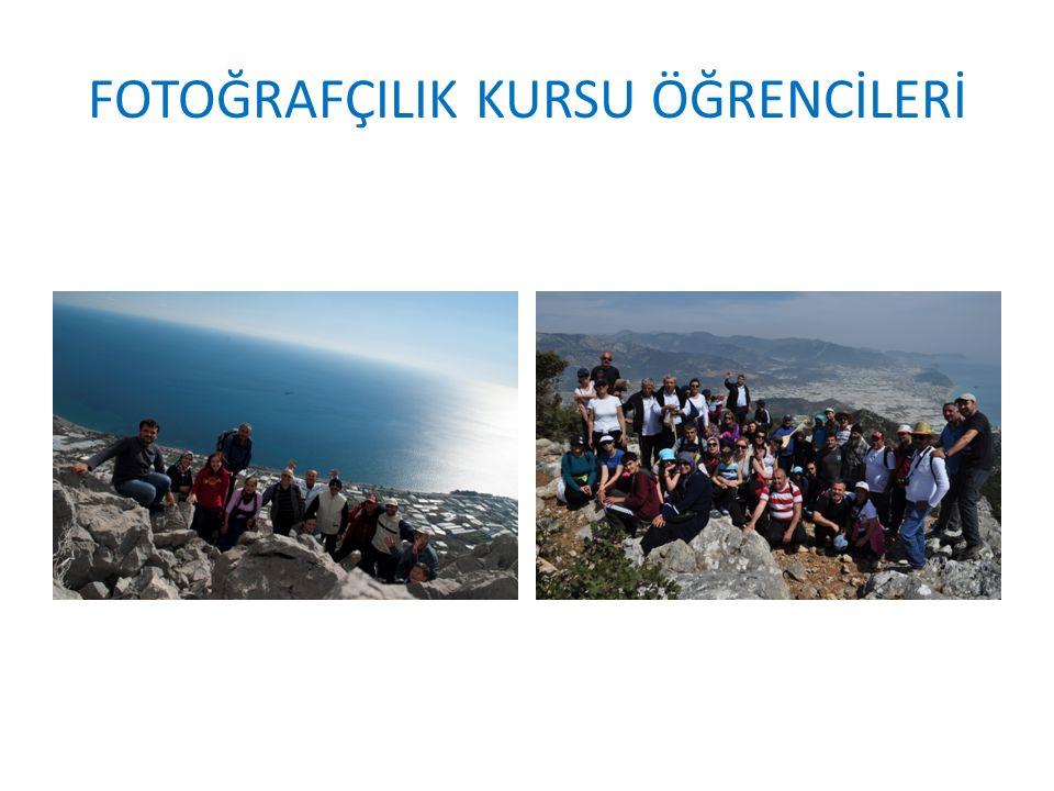 FOTOĞRAFÇILIK KURSU ÖĞRENCİLERİ