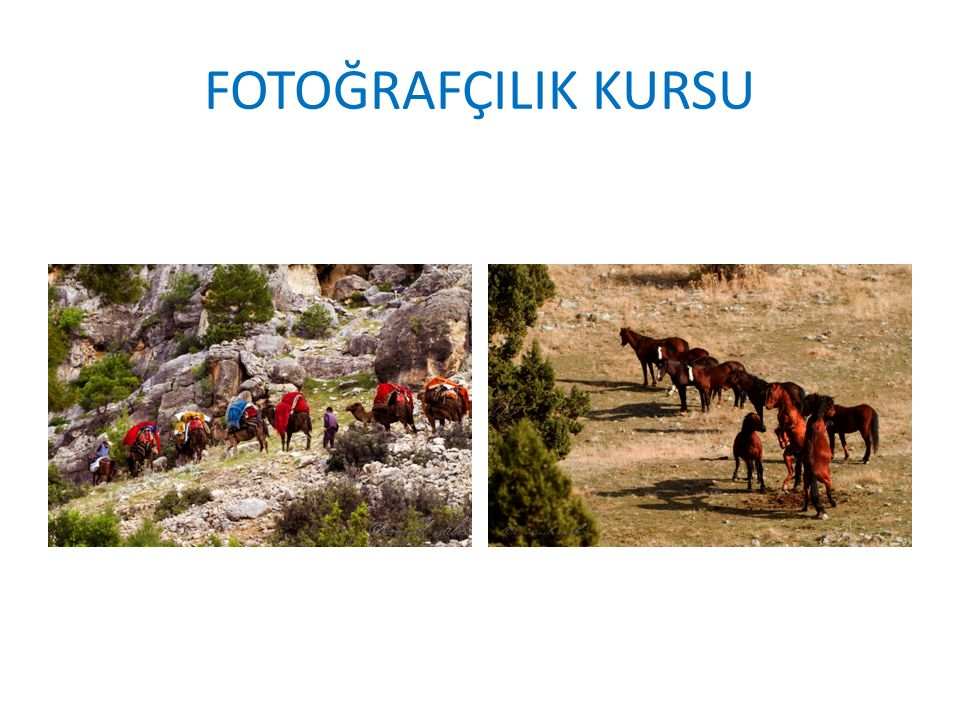 FOTOĞRAFÇILIK KURSU