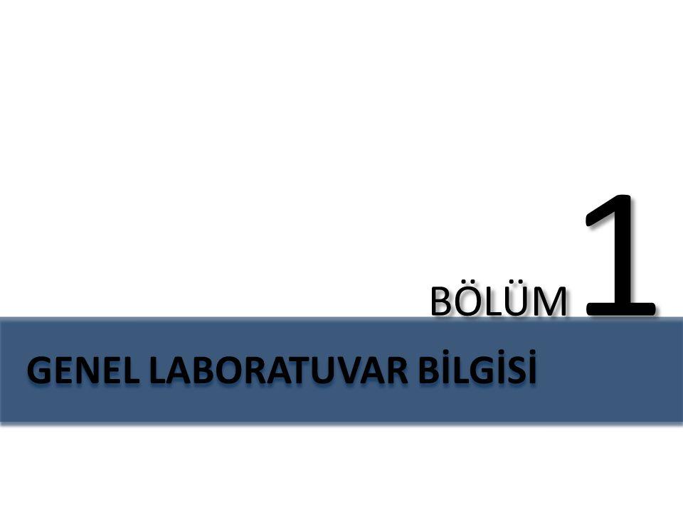 GENEL LABORATUVAR BİLGİSİ pH metreManyetik karıştırıcıHassas terazi EtüvKül fırınıSaf su cihazı