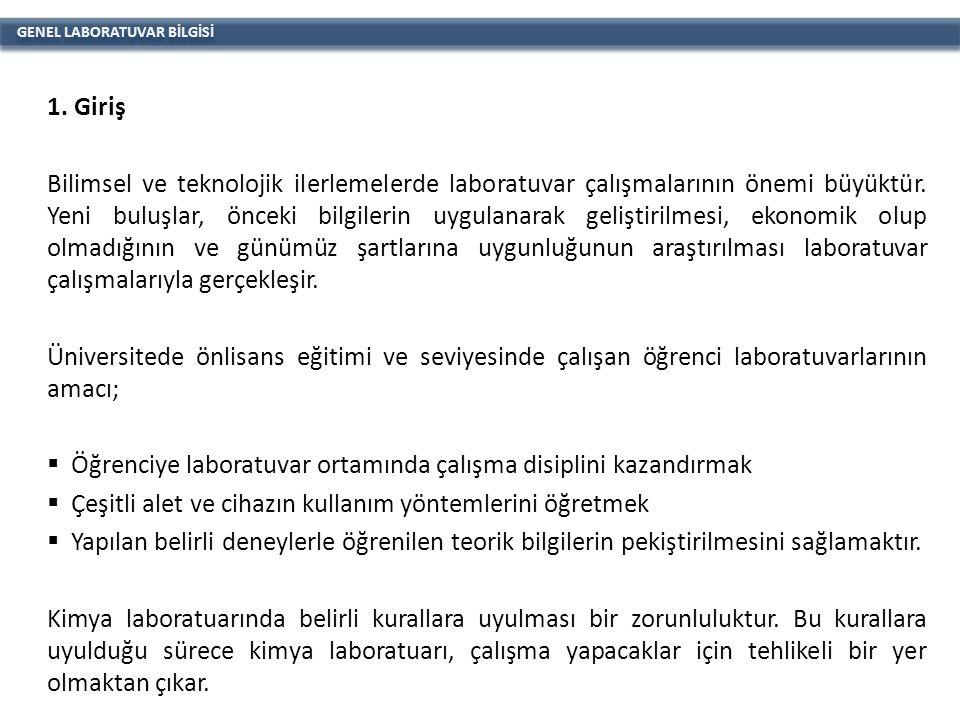 GENEL LABORATUVAR BİLGİSİ 2.