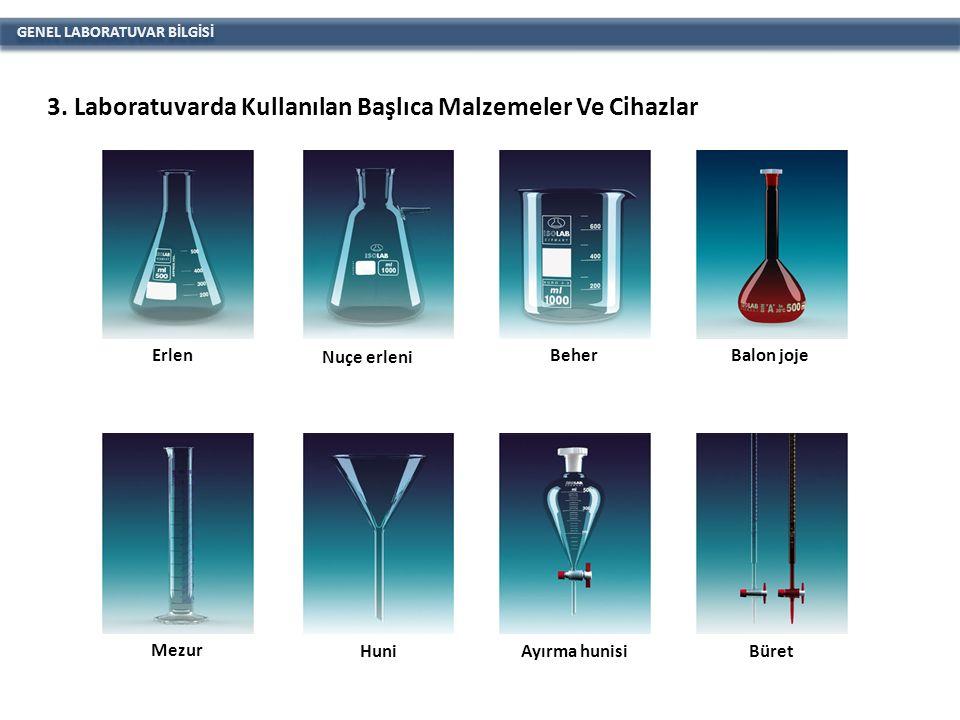 GENEL LABORATUVAR BİLGİSİ Balon DesikatörSoğutucu Vakumlu desikatörDeney tüpüPiknometrePiset
