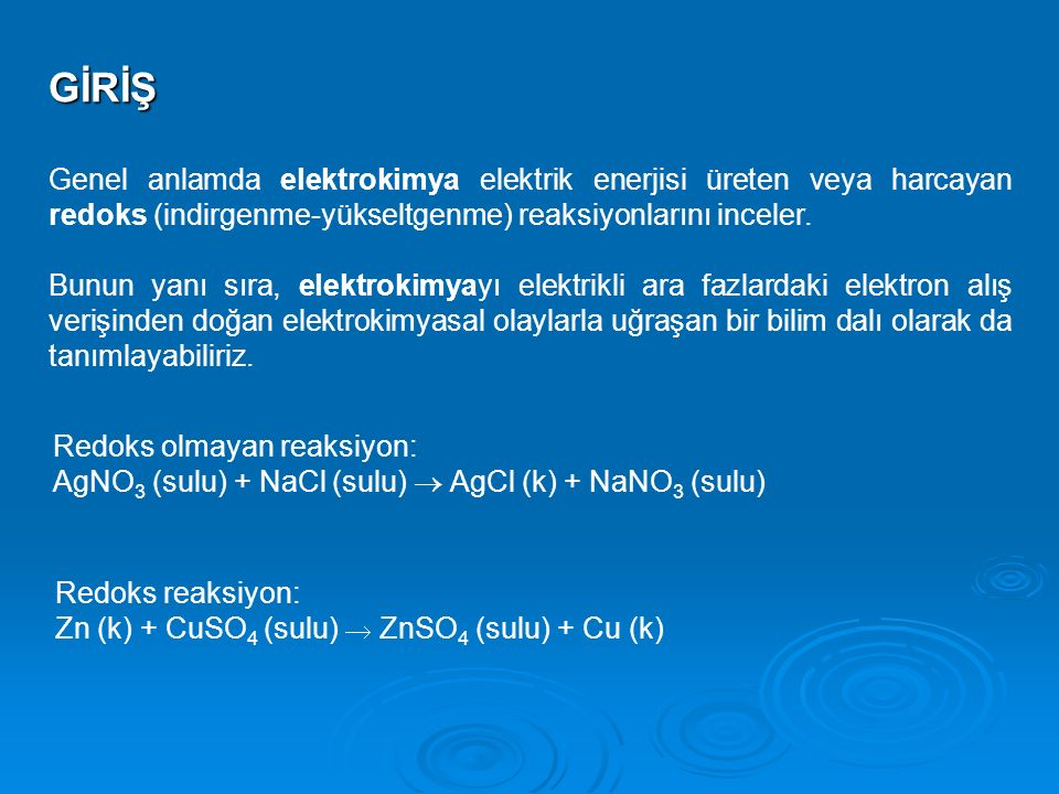Elektrot kinetiği ve kütle transferiKonular: 1.Elektrot reaksiyonları 2.