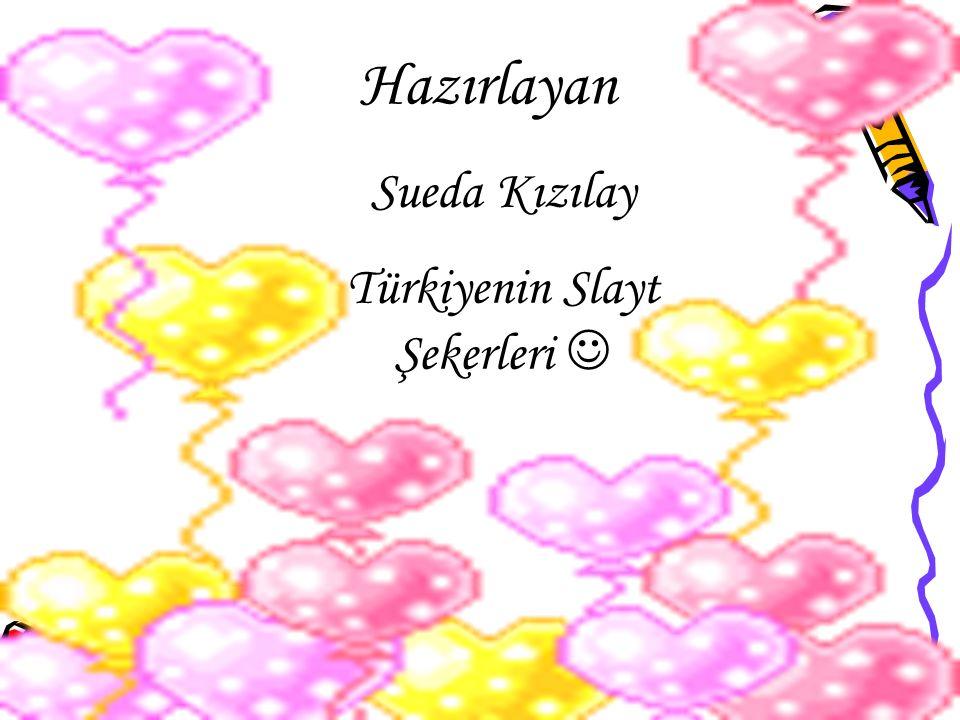 Hazırlayan Sueda Kızılay Türkiyenin Slayt Şekerleri