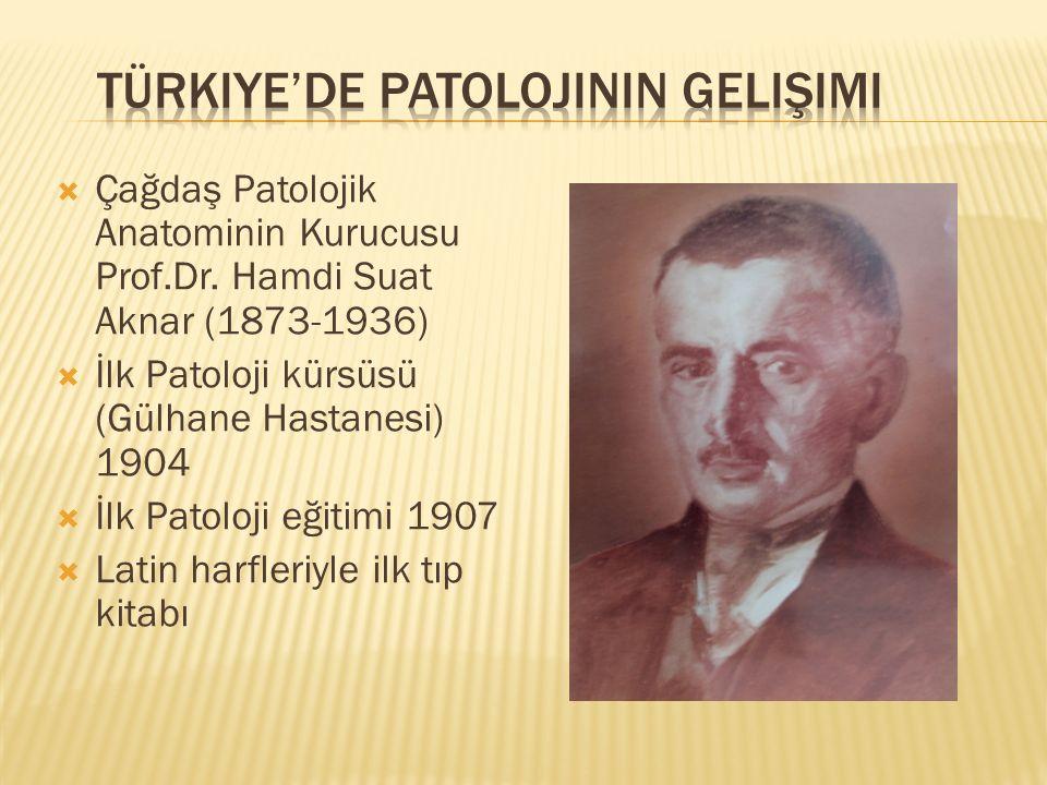  Çağdaş Patolojik Anatominin Kurucusu Prof.Dr.