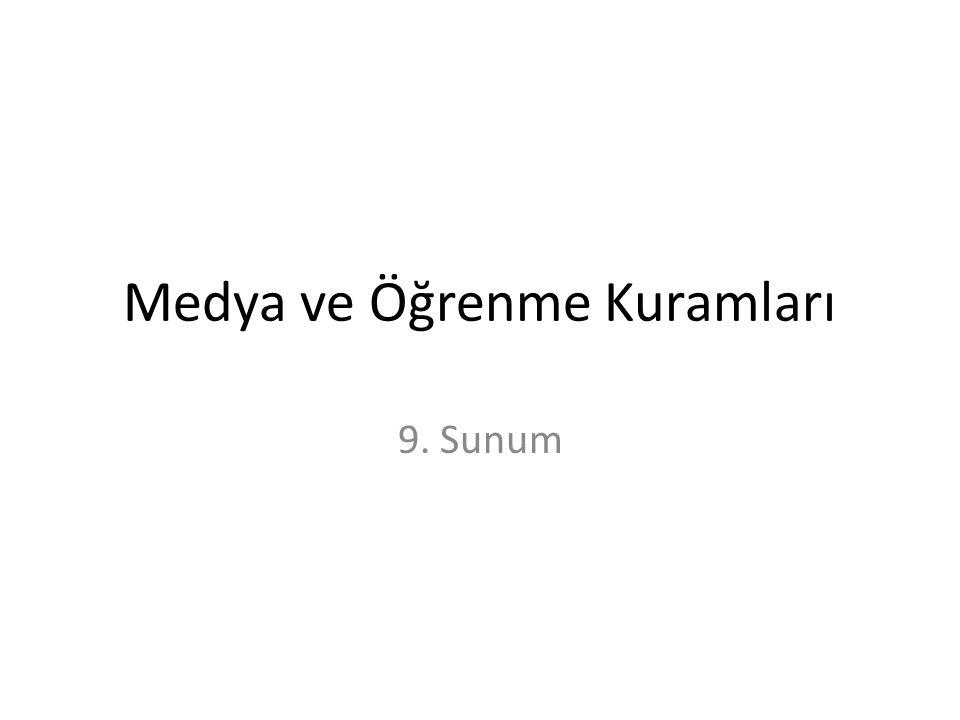 Medya ve Öğrenme Kuramları 9. Sunum