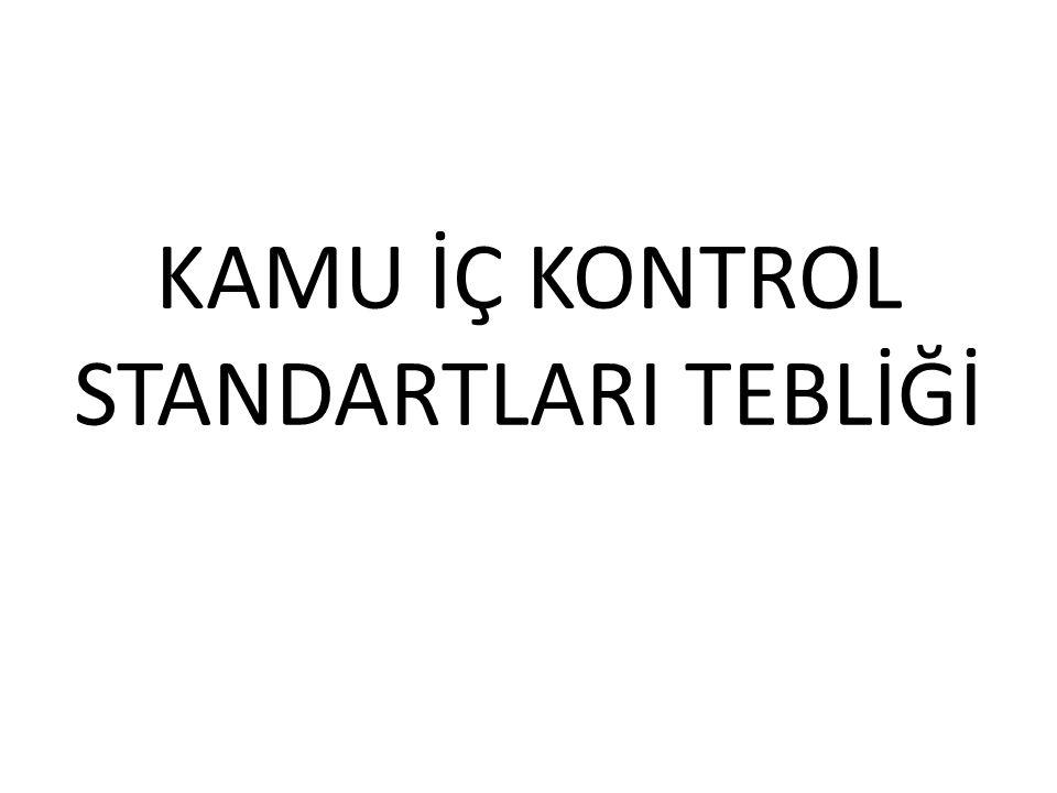 KAMU İÇ KONTROL STANDARTLARI TEBLİĞİ