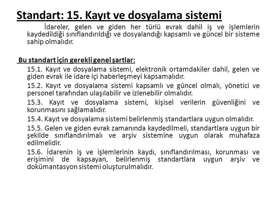 Standart: 15.