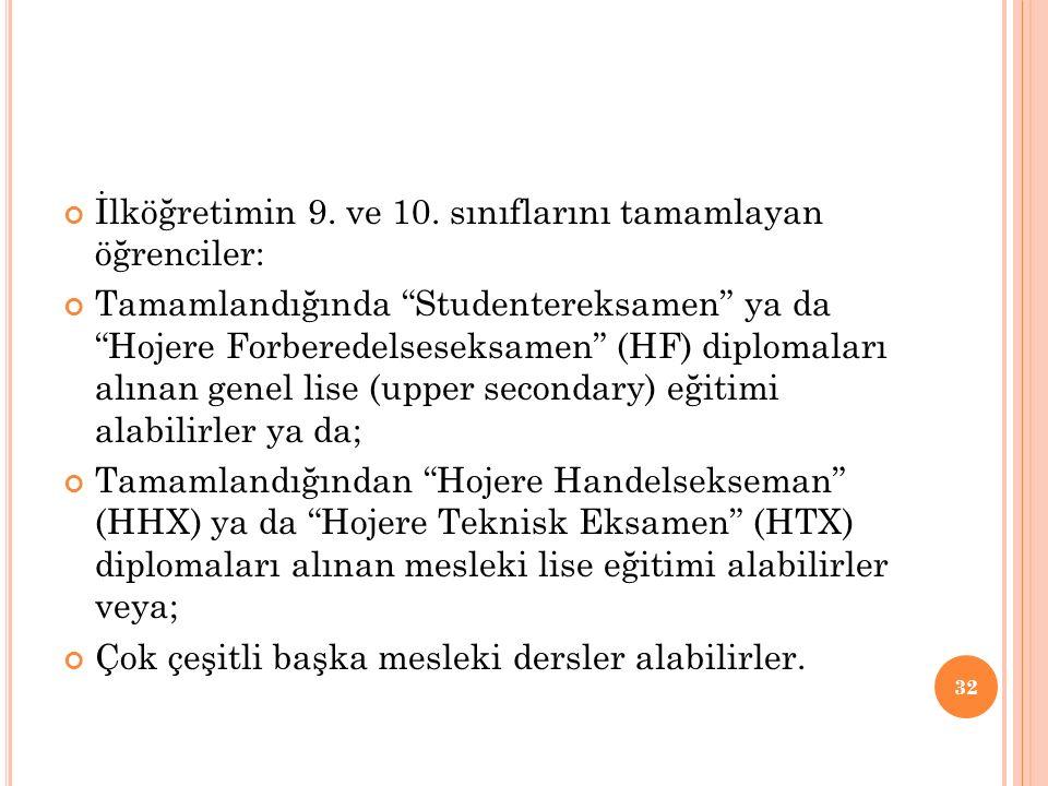 İlköğretimin 9. ve 10.