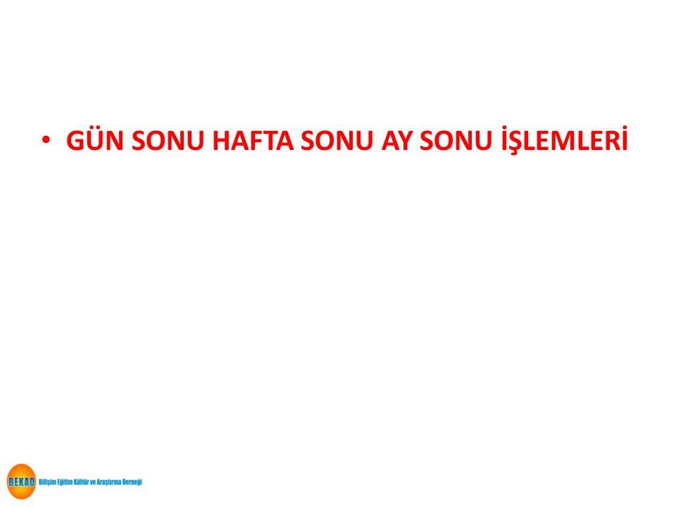 35 İHTİYARİ ENVANTER İŞLEMLERİ