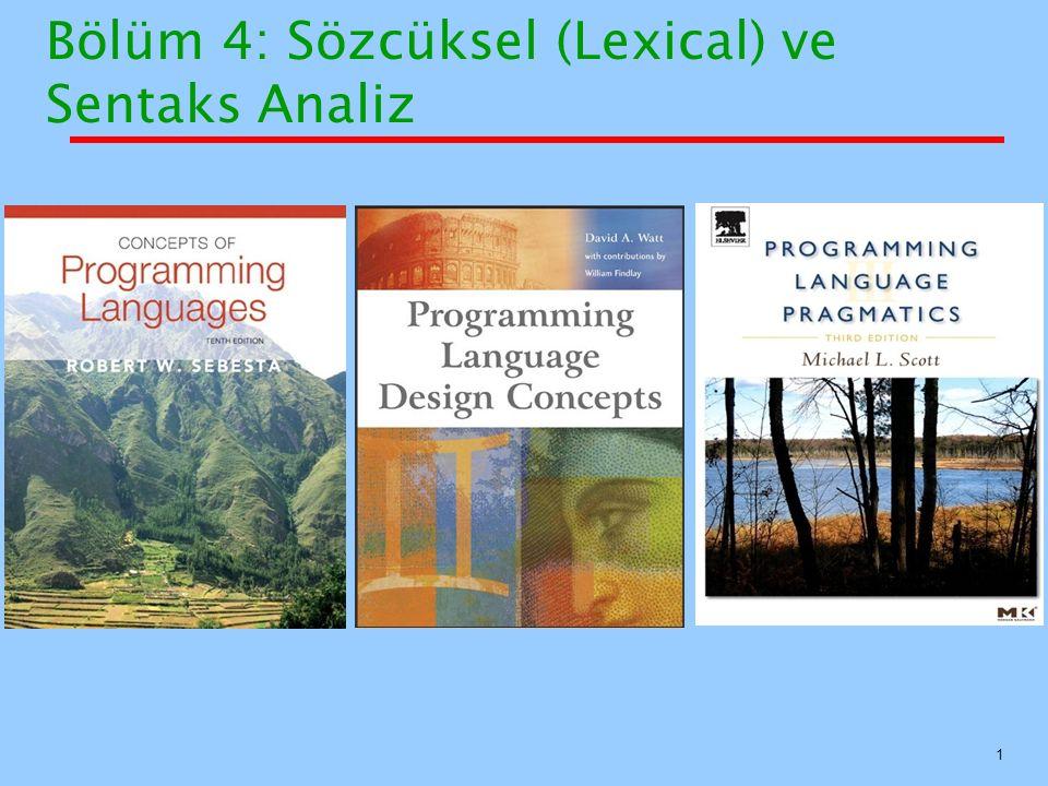 Bölüm 4: Sözcüksel (Lexical) ve Sentaks Analiz 1