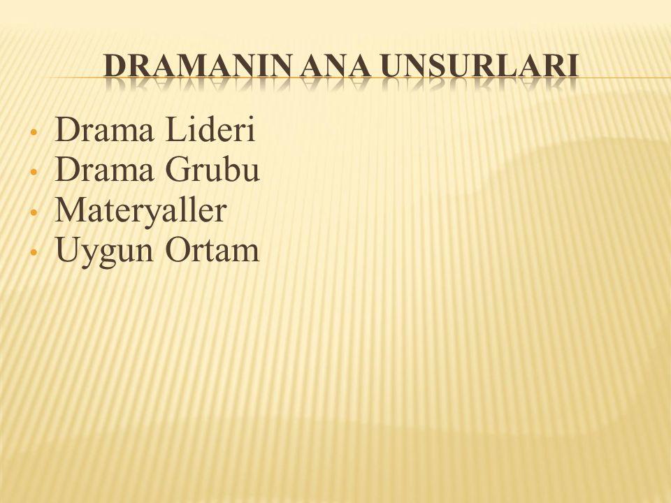 Drama Lideri Drama Grubu Materyaller Uygun Ortam