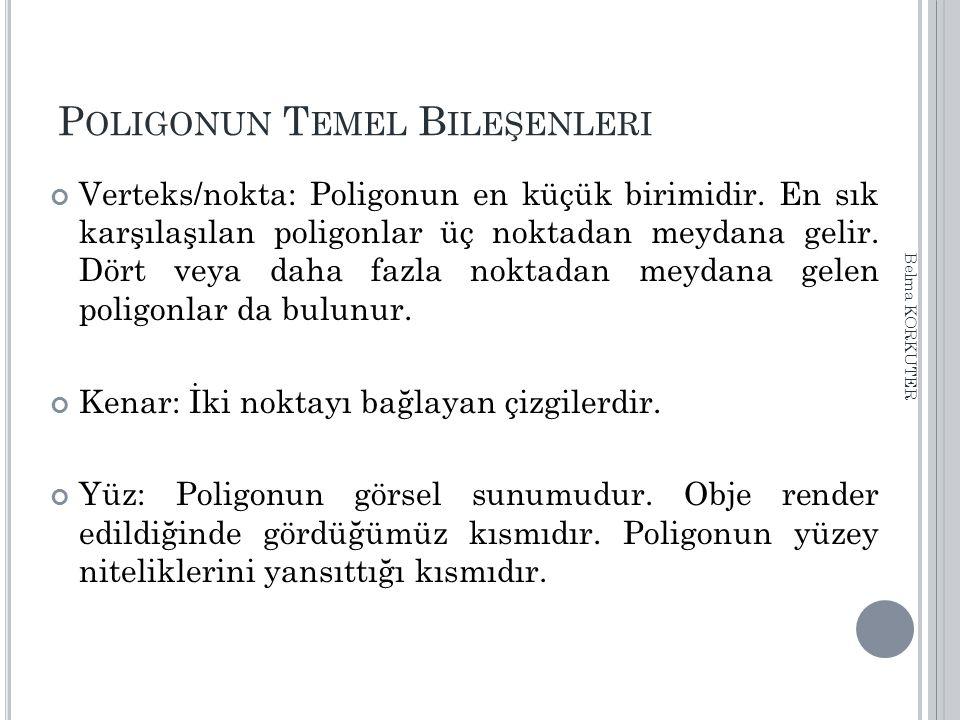 D ÜZENLEME K OMUTLARI o BOOLEANS NOT: Bu şekilde elde edilen geometriler tırtıklı sonuçlar verebilmektedir.