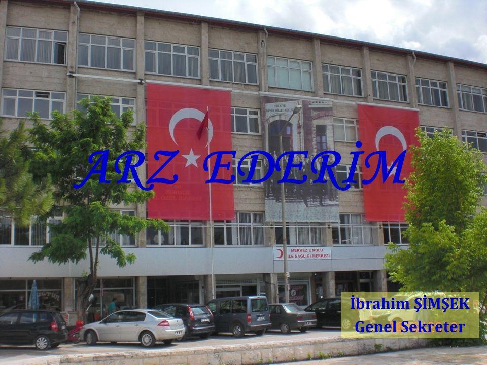 57 ARZ EDERİM İbrahim ŞİMŞEK Genel Sekreter