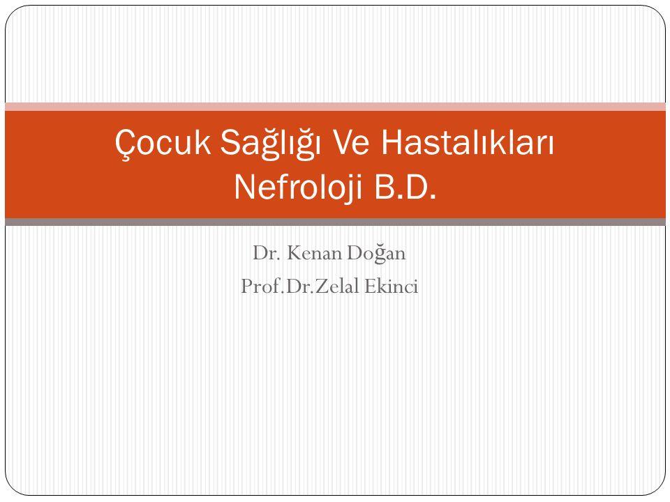 Dr. Kenan Do ğ an Prof.Dr.Zelal Ekinci Çocuk Sağlığı Ve Hastalıkları Nefroloji B.D.