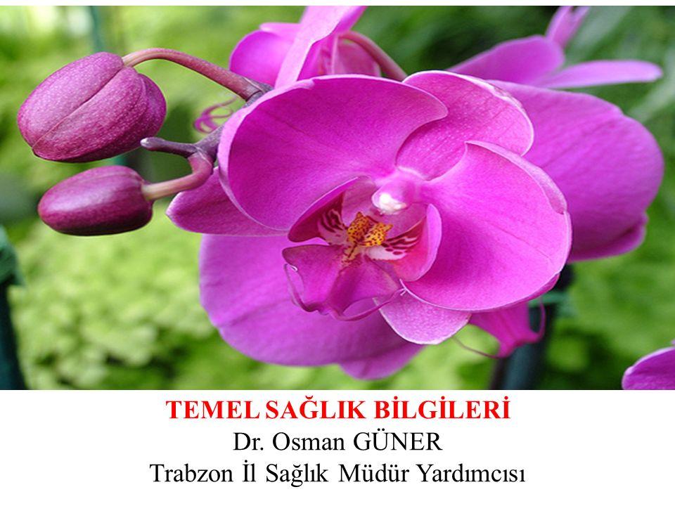 TEMEL SAĞLIK BİLGİLERİ Dr. Osman GÜNER Trabzon İl Sağlık Müdür Yardımcısı