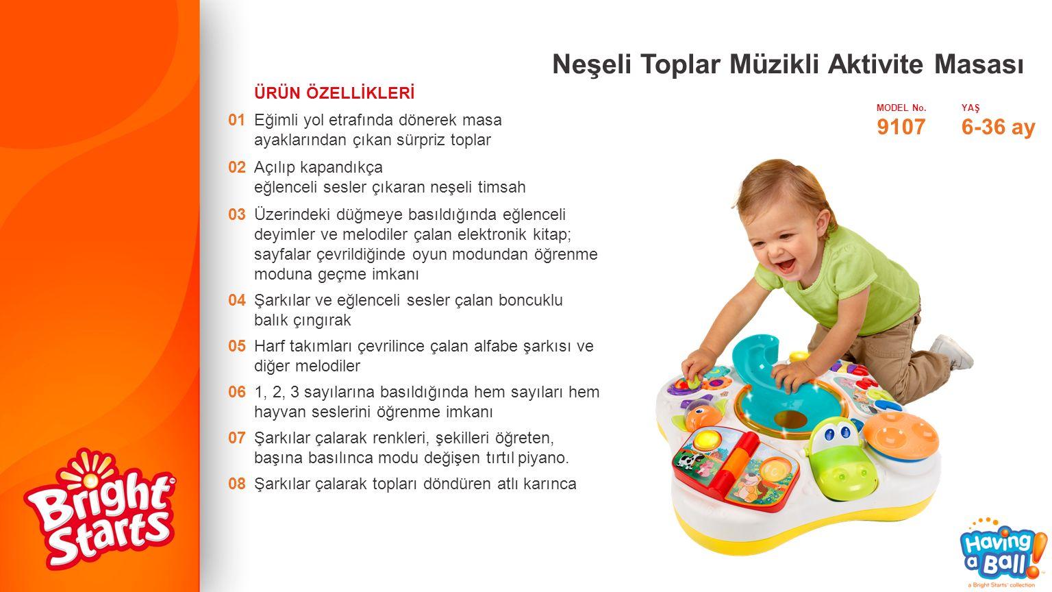 Neşeli Toplar Müzikli Aktivite Masası MODEL No.YAŞ 91076-36 ay