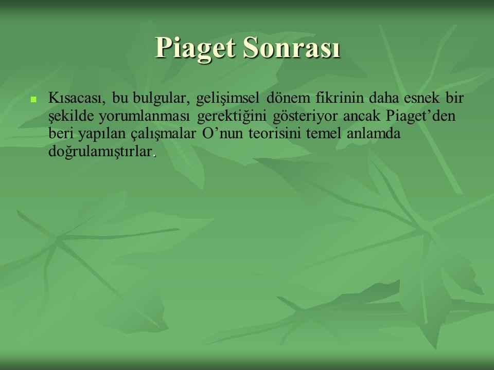 Piaget Sonrası.