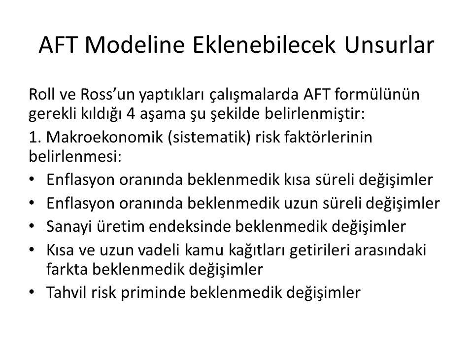 AFT Modeline Eklenebilecek Unsurlar Roll ve Ross'un yaptıkları çalışmalarda AFT formülünün gerekli kıldığı 4 aşama şu şekilde belirlenmiştir: 1. Makro
